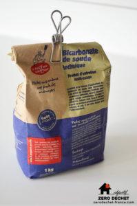 Bicarbonate de soude objectif zéro déchet