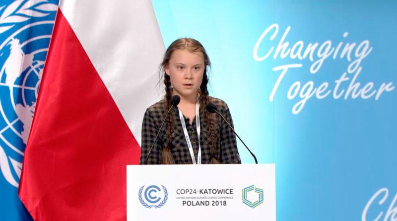 Greta Thunberg lors de la cop 24