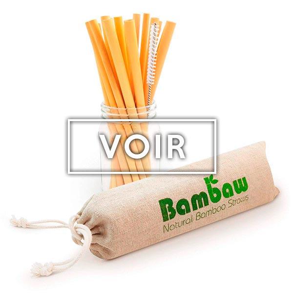 Pailles bambou boutique Objectif zéro déchet