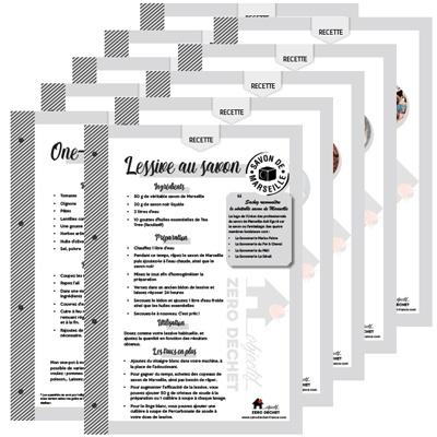Téléchargez des fiches recettes zéro déchet