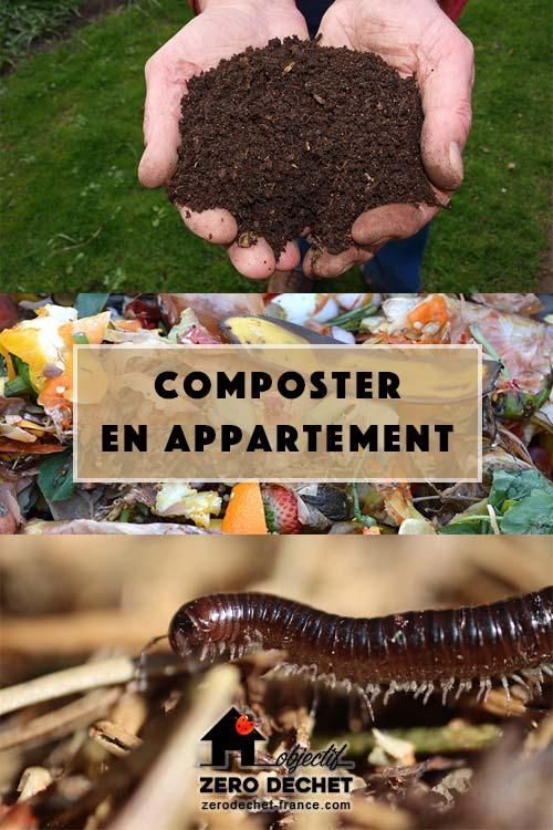 Composter en appartement avec un lombricomposteur
