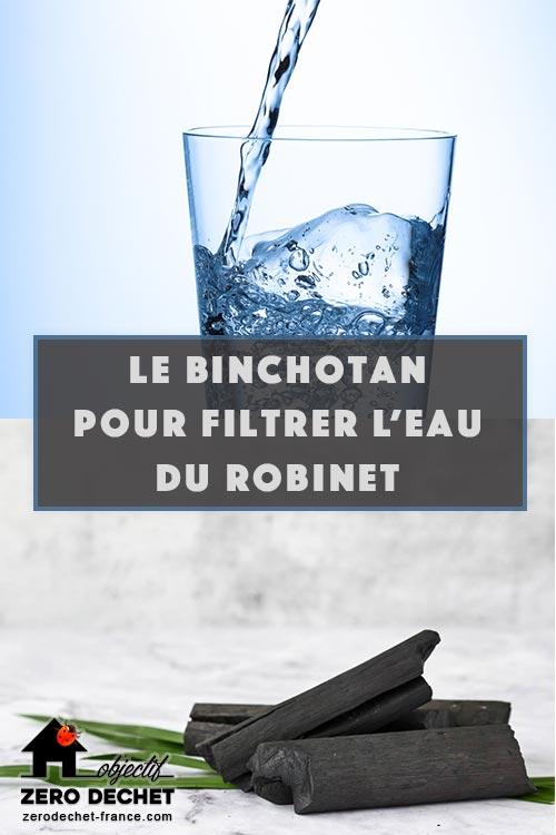 Le Binchotan pour filtrer l'eau du robinet